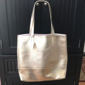 Bloomingdales shopper bag, Gold NWT